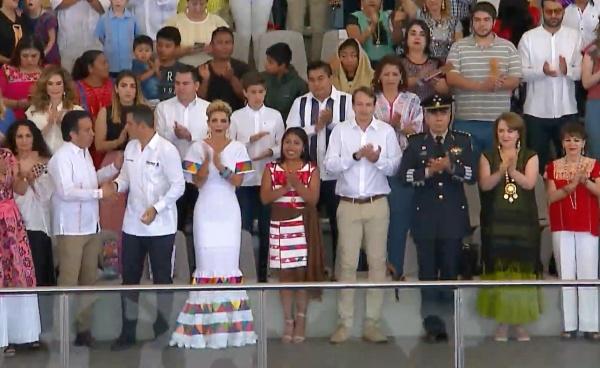 Así inicia la Guelaguetza 2019. Foto: tomada de transmisión