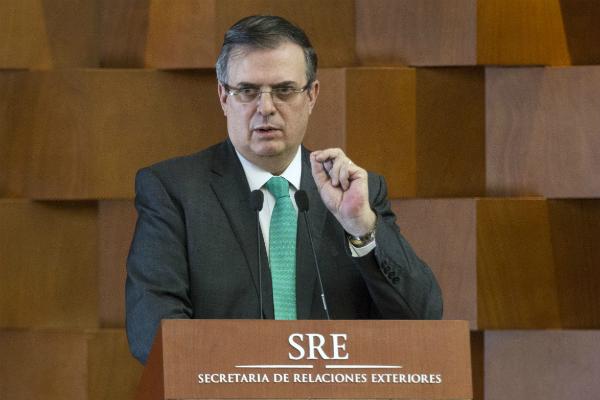 Marcelo Ebrard, titular de la SRE platicó sobre el tema con el secretario de estado de Estados Unidos, Mike Pompeo. Foto: Especial.