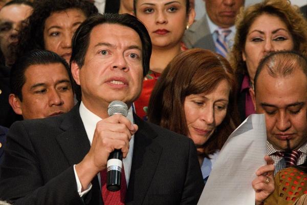 Mario Delgado aclaró que, primero, sus diputados afines y él mismo realizarán una consulta a las bases de Morena para definir el partido. Foto: Cuartoscuro