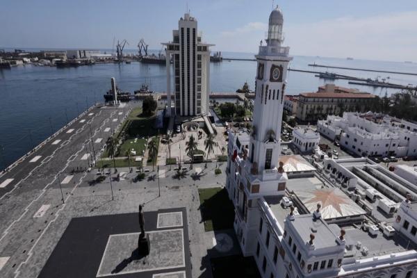 El diseño que contendrá el reverso de la moneda conmemorativa de 20 pesos es por los 500 años de la Fundación de la ciudad y el puerto de Veracruz. Foto: Especial