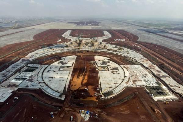 La construcción inconclusa del Aeropuerto en Texcoco: FOTO: Especial