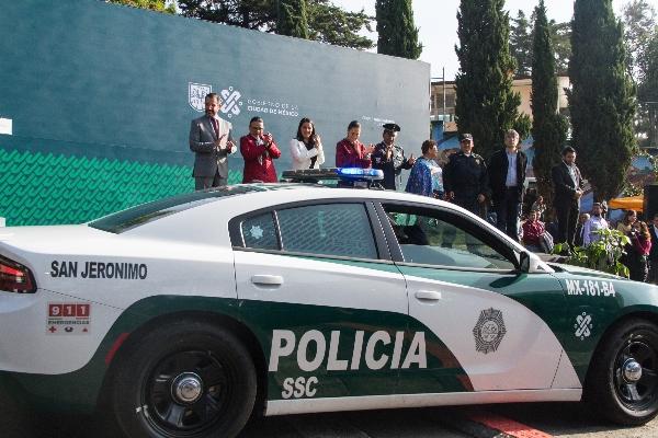 Patricia Ortiz con jefa de Gobierno y patrulla