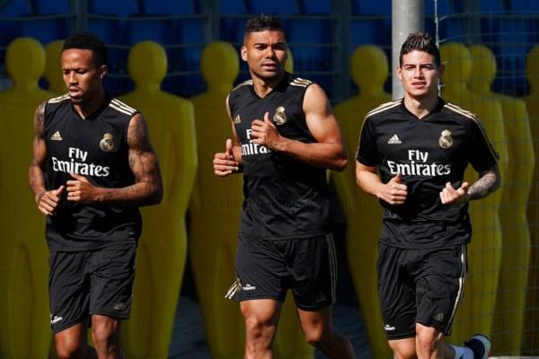 El Real Madrid se sometió este lunes a un entrenamiento a puerta cerrada