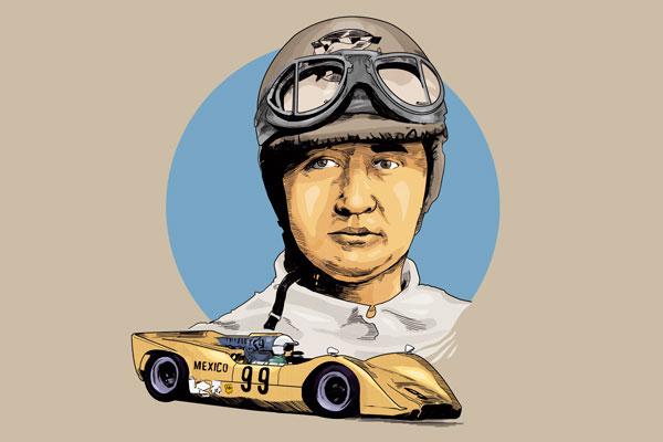 En 1967, Enzo Ferrari lo llamó para hacer algunas pruebas, pero al final su contratación no prosperó. Ilustración: Norberto Carrasco.