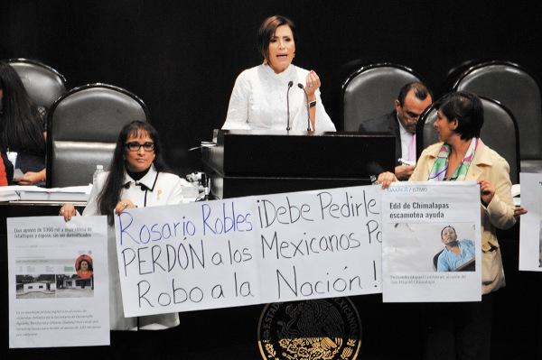 RECLAMOS. Rosario Robles se presentó por última vez como titular de la Sedatu ante el Congreso de la Unión el 16 de octubre de 2018. Foto: CUARTOSCURO.