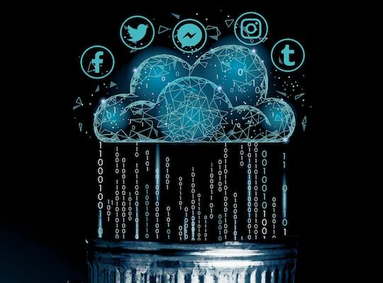 La carrera por construir una red renovable comenzó con líderes de plataformas digitales como Facebook, Apple y Google. Ilustración: Norberto Carrasco