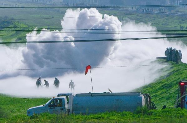 Ayer, la Coordinación General de Protección Civil del Estado de México informó que alrededor de las 3:00 horas se reportó una fuga de gas en el kilómetro 717+000 del Poliducto Cactus- Guadalajara. Foto: Cuartoscuro