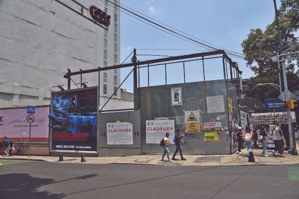 CLAUSURADO. En 17 casos, los constructores no alcanzaron a edificar. Foto: Daniel Ojeda.