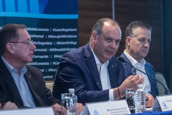 Gustavo de Hoyos Walther, presidente de Coparmex.  FOTO: ISAAC ESQUIVEL /CUARTOCURO.COM