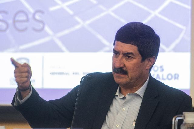 Javier Corral durante un evento. FOTO: Cuartoscuro