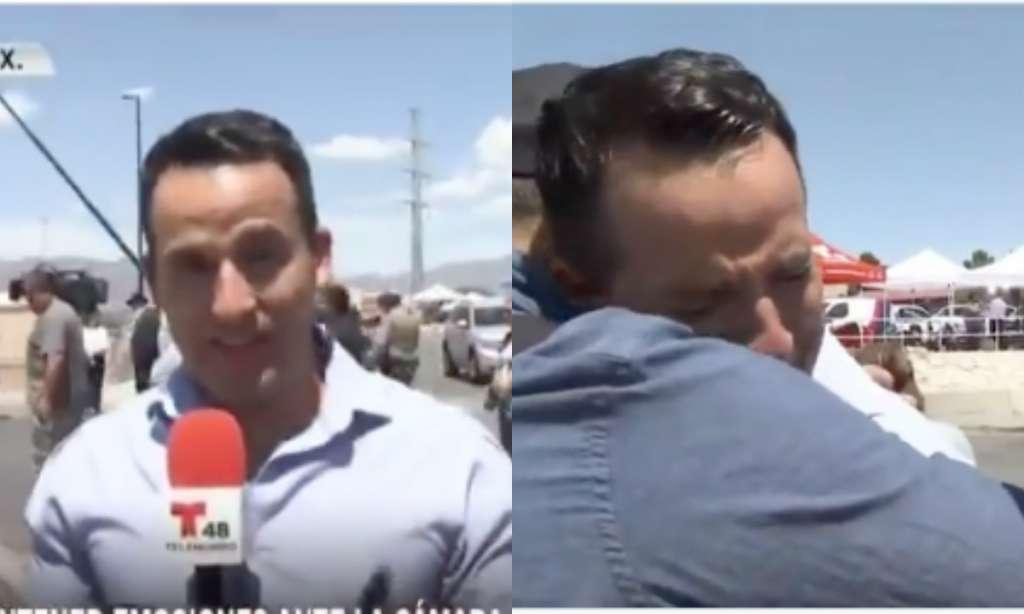 A pesar de la fuertes imágenes y el dolor que sentía por la comunidad, el periodista siguió narrando. Foto: Especial.