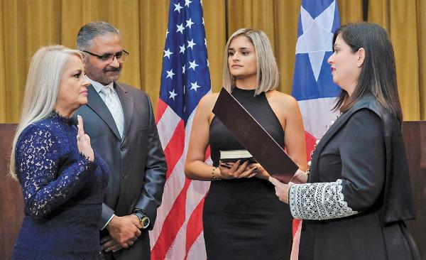 RELEVO. Wanda Vázquez asumió como gobernadora tras una controversia legal. Foto: AP