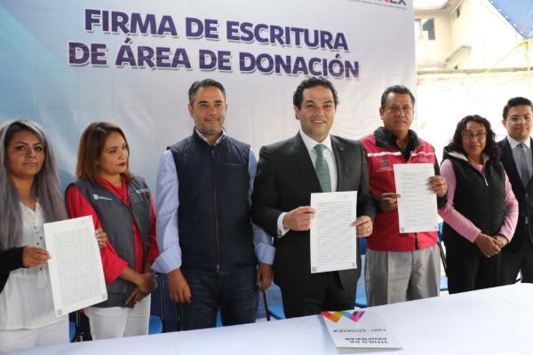 El gobierno municipal ahora tiene certeza jurídica sobre un área de donación del predio ubicado en la Colonia El Bosque