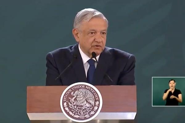 López Obrador desde Durango. Foto: Especial
