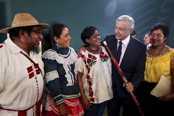 Andrés Manuel López Obrador, Presidente de México en conferencia de prensa en la capital de Durango. Foto: Cuartoscuro