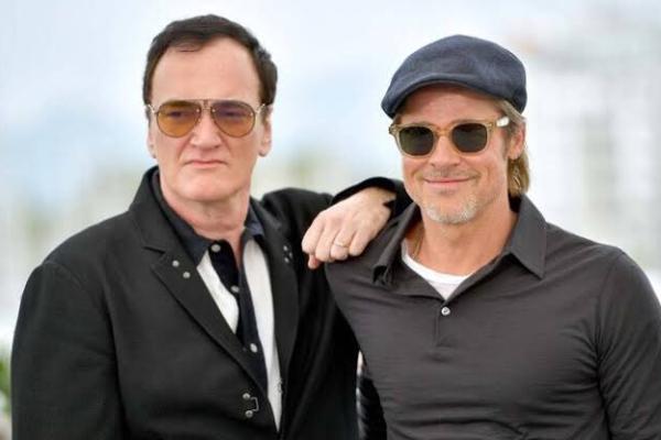 Brad Pitt y Quentin Tarantino en Hollywood