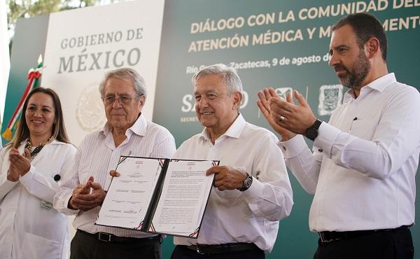 Andrés Manuel López Obrador, presidente de México en Diálogo con la Comunidad del Hospital Rural Río Grande. Foto: Cuartoscuro