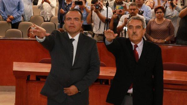 DESIGNACIÓN. Rodolfo Castro y Miguel Ángel Torres asumieron cargos. Foto: Especial.