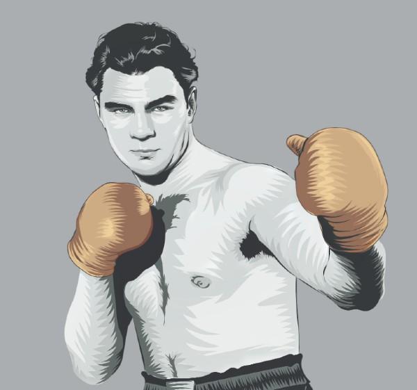 Max Schmeling campeón de los pesados. Ilustración: Allan G. Ramírez