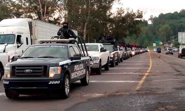 Llegan-a-Uruapan-120-policías-y-siete-drones-para-refuerce-de-seguridad