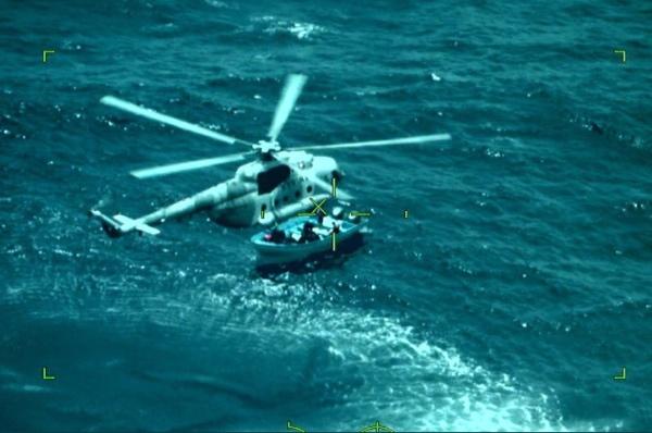 Durante el aseguramiento participaron una aeronave tipo Persuader, un helicóptero MI-17, una Patrulla Oceánica. Foto: Especial.
