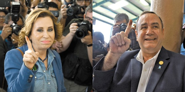 SUFRAGIO. La exprimera dama Sandra Torres se enfrentó al conservador Alejandro Giammattei en la segunda vuelta. Foto: AFP