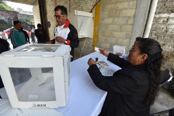 Pocos fueron los que emitieron su voto en Puebla