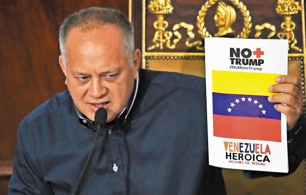 OPOSITOR. Diosdado Cabello hizo el anuncio. Foto: AFP