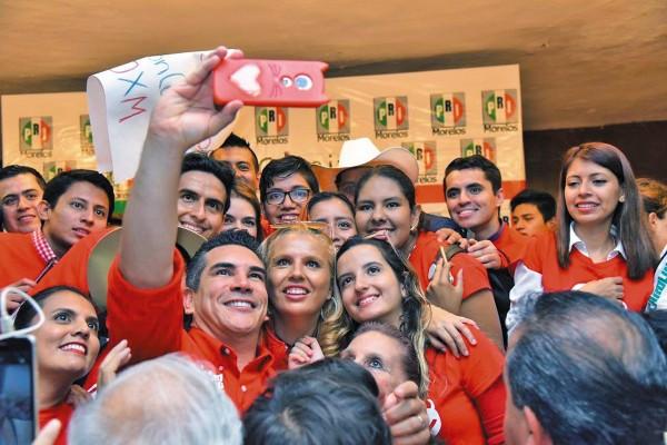 DELANTERA. Alejandro Moreno obtuvo 84% de la votación para la presidencia del tricolor.