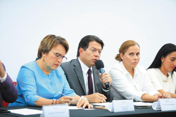 LÍDER. La Junta de Coordinación Política está encabezada por el morenista Mario Delgado.  Foto: Especial.