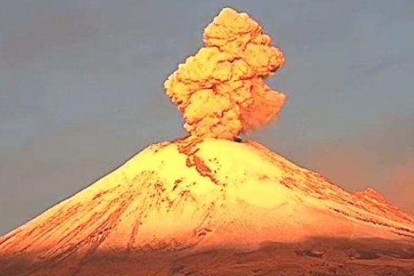 Ceniza volcan Popocatepetl Edomex Puebla Morelos