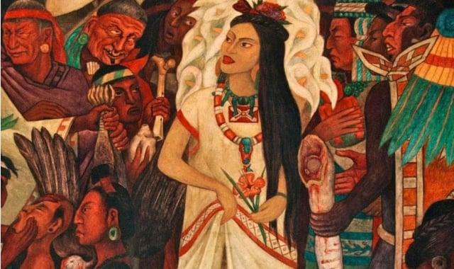 Representación de La Malinche. FOTO: Especial.