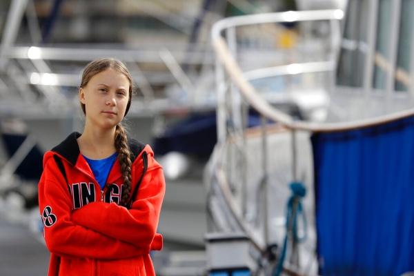 Thunberg saldrá esta semana de Plymouth, Inglaterra, con rumbo a Nueva York a bordo de un velero de alta tecnología, pero con pocas comodidades. Foto: AP