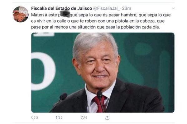 Amenazan_AMLO_hackeo_redes_Fiscalía_Jalisco