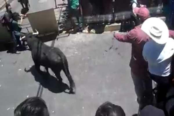 Huamantlada 2019: Toros lesionan a nueve; uno de ellos de gravedad