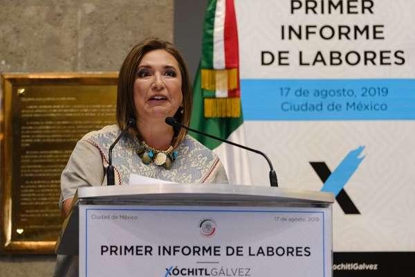 La legisladora señaló lo anterior en el marco de la presentación de su informe en torno a su primer año de labor legislativa. Foto: Especial