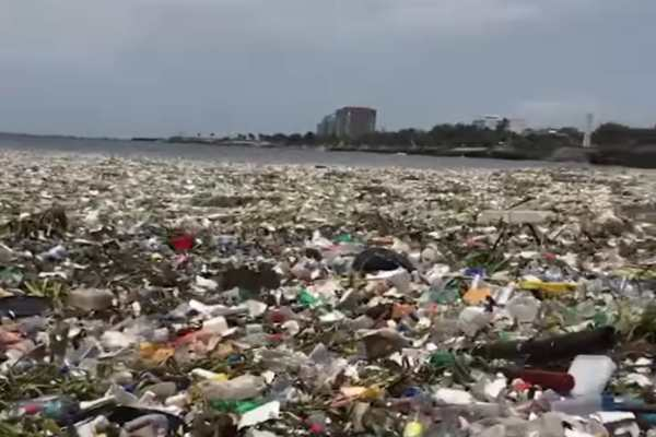 Olas de basura en playas de República Dominicana: VIDEO