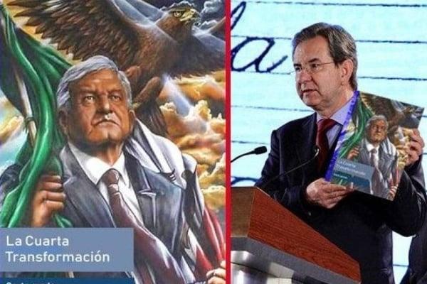 Foto AMLO SEP Libro Historia