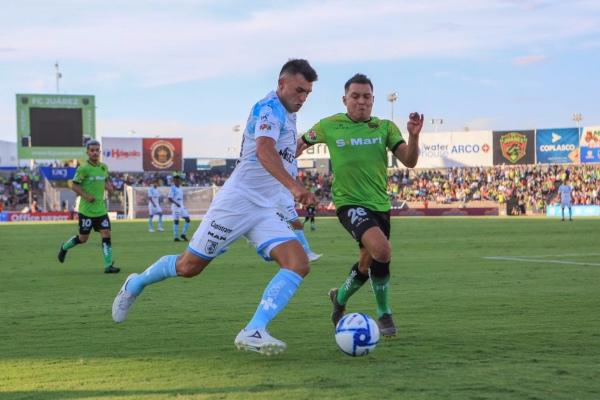 Pese a que tuvo un hombre más desde el minuto cinco, el club de futbol Querétaro sufrió mucho, pero al final se impuso 2-0 a FC Juárez, en juego que cerró la fecha cinco del Torneo Apertura 2019 de la Liga MX. Foto: Twitter