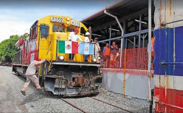 Actualmente, entre Guatemala y México la conexión férrea es al sur, pero de bajo volumen. Foto: Especial