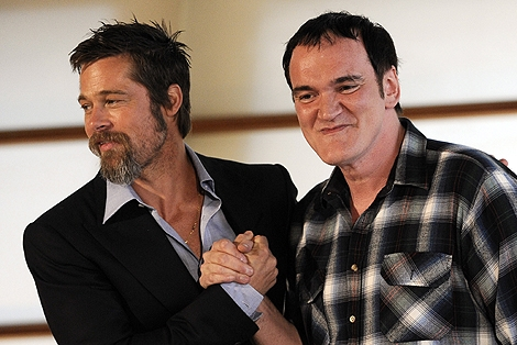 Brad Pitt y Quentin Tarantino