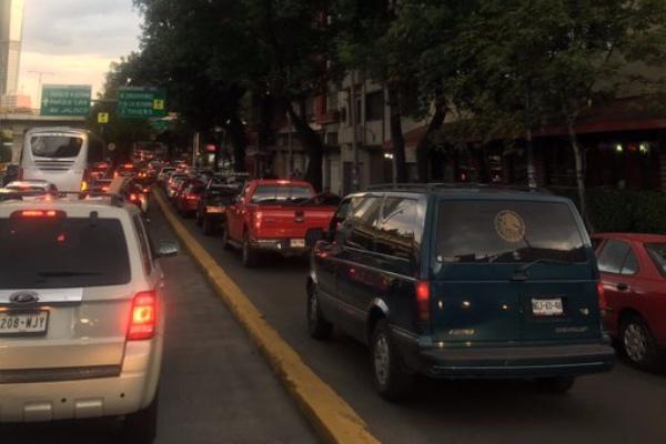La tarde de este lunes no registra dificultades viales serias en Ciudad de México.  Foto: Especial