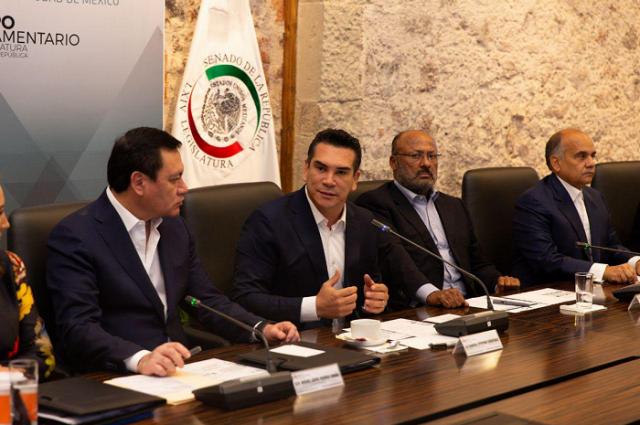 CITA. Alejandro Moreno inauguró la tercera reunión plenaria del grupo parlamentario del PRI. Foto: Especial