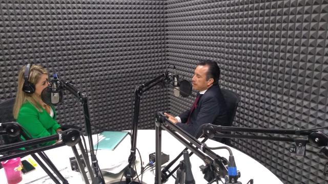 Cuitláhuac García Jiménez, en entrevista con Blanca Becerril.
