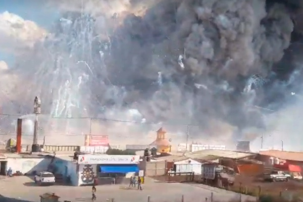 En lo que van de 2019, se han reportado tres explosiones en Tultepec. Foto: Especial