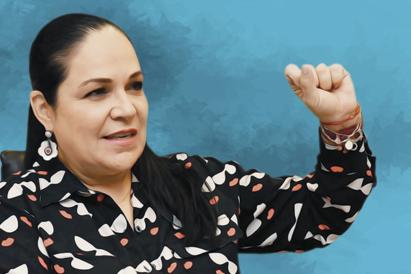 SENADORA MÓNICA FERNÁNDEZ. FOTO: PABLO SALAZAR SOLÍS