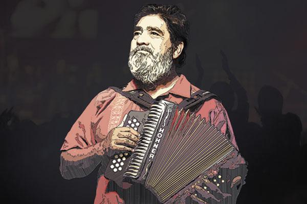 En sus últimos conciertos tocaba acompañado de la banda Cumbia Bogotá. Foto-arte: Norberto Carrasco