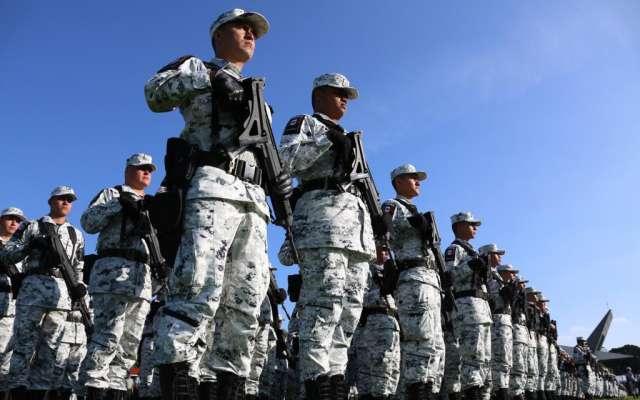 Elementos de la Guardia Nacional en formación. FOTO: Gobierno de México.