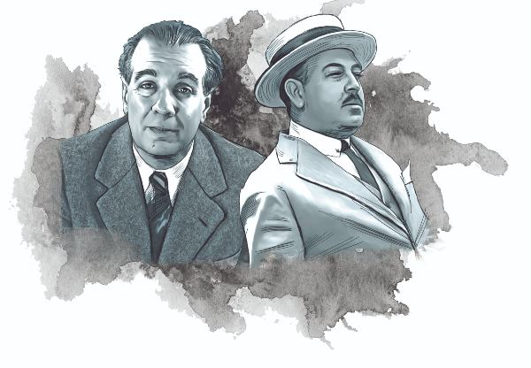 INTERCAMBIO. La relación entre el argentino y el mexicano se extendió por más de tres décadas.  Ilustración: Allan G. Ramírez.