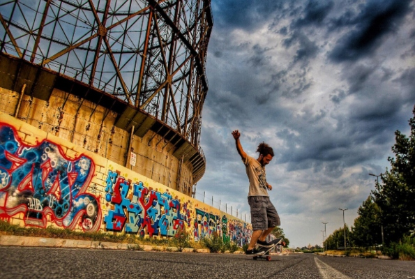 El Gasómetro es una estructura de 90 metros de altura, que tenía una capacidad de 200 000 m3. Foto: Pablo Esparza